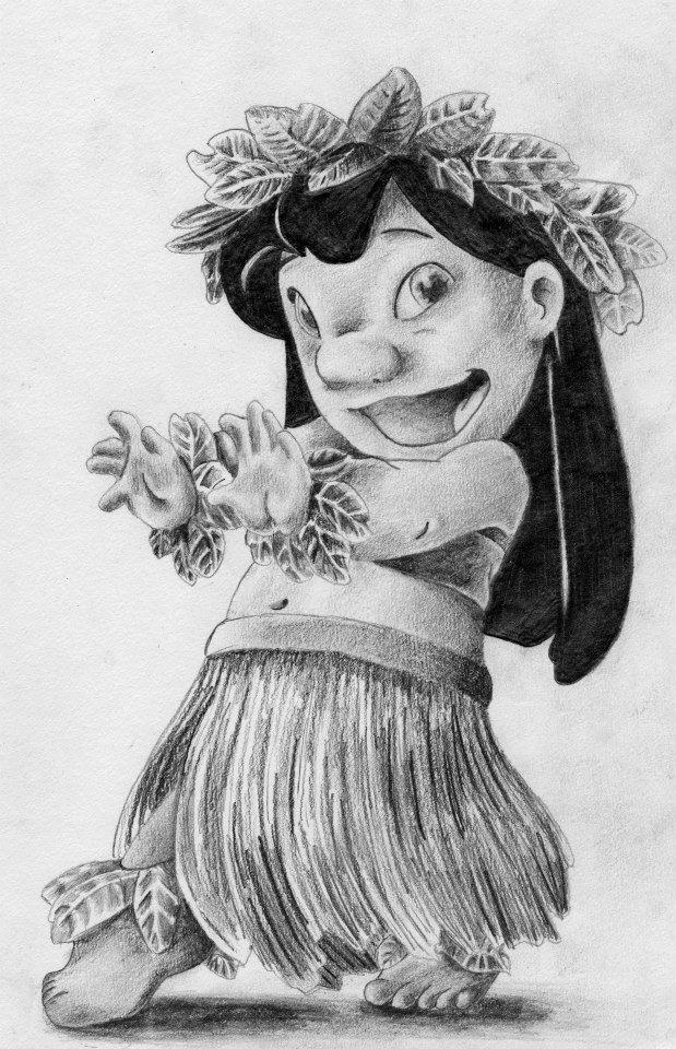 Drawn pencil lilo and stitch  Drawing Lilo Lilo December