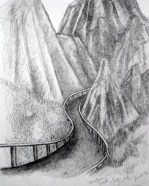 Drawn road pencil drawing Pencil Road from Sketchbook sketch