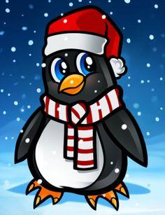 Drawn penguin cristmas Christmas Pinterest to draw Seasonal