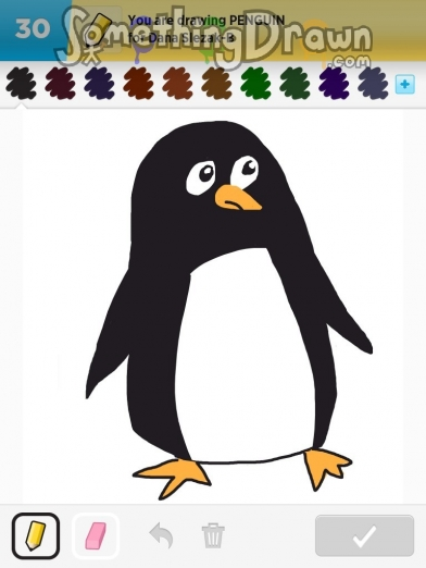 Drawn penguin draw something Asfisha by Draw penguin on
