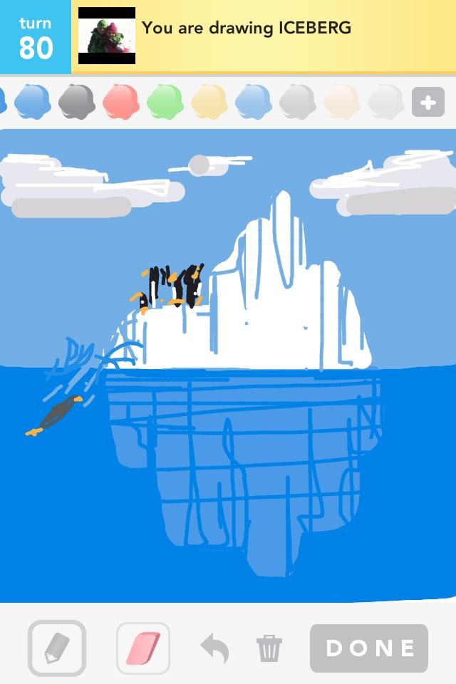Drawn penguin draw something