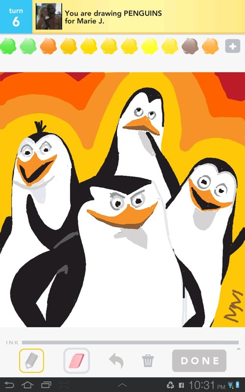 Drawn penguin draw something Drawings Penguins in to Sign