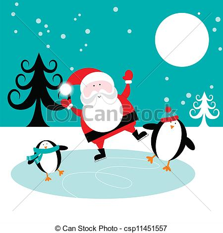 Drawn penguin ice clipart Penguins on and Clipart Vector