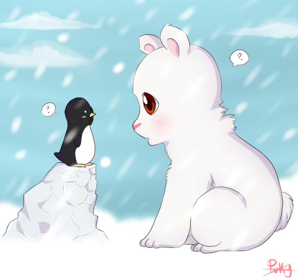Drawn polar  bear chibi Bear bear Penguin Polar photo#7