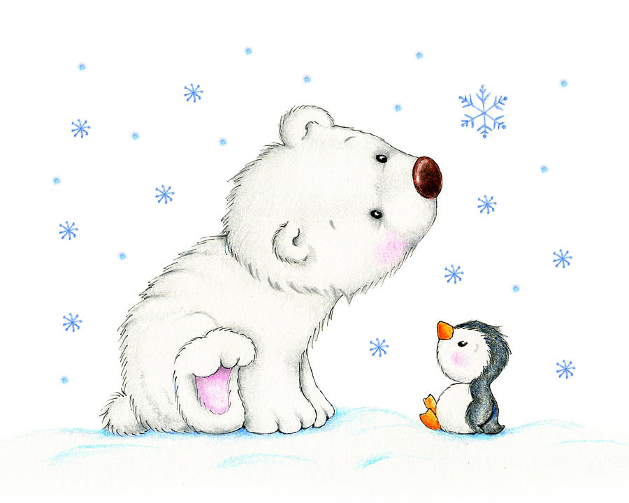 Drawn polar  bear penguin #3
