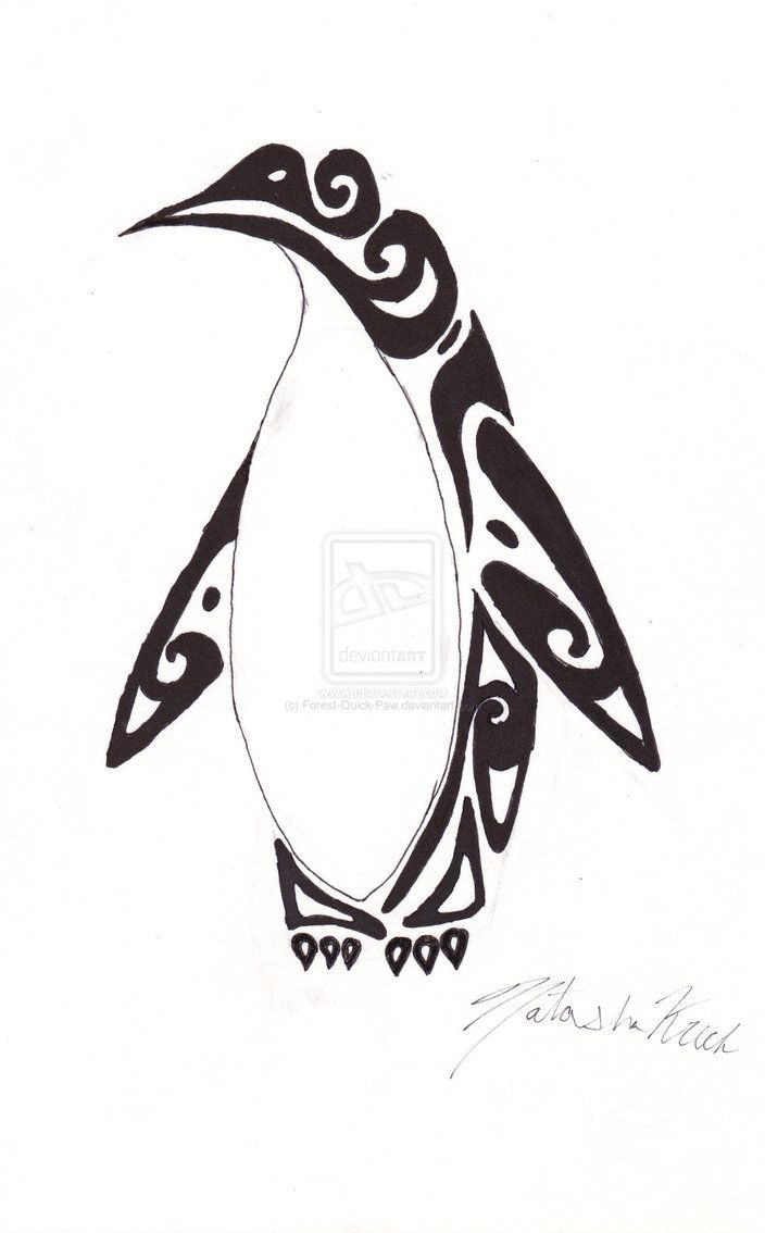 Drawn penguin tribal By on 76 Paw Tribal