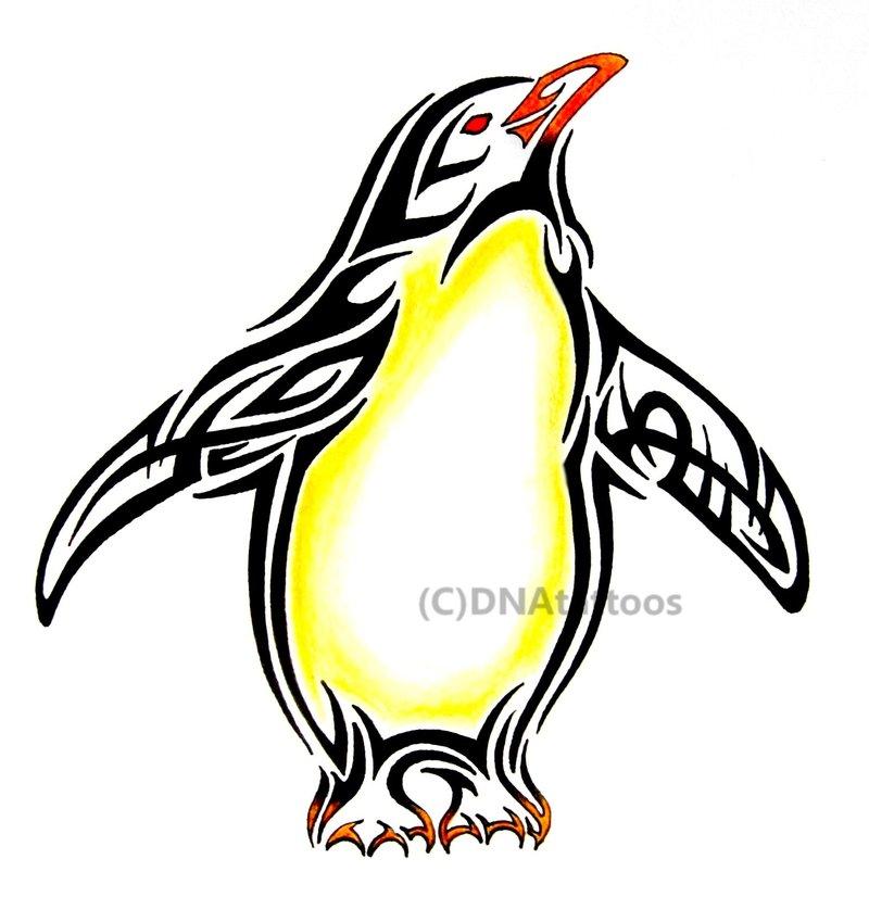 Drawn penguin tribal Tattoo Penguin Funny Tattoo Tribal