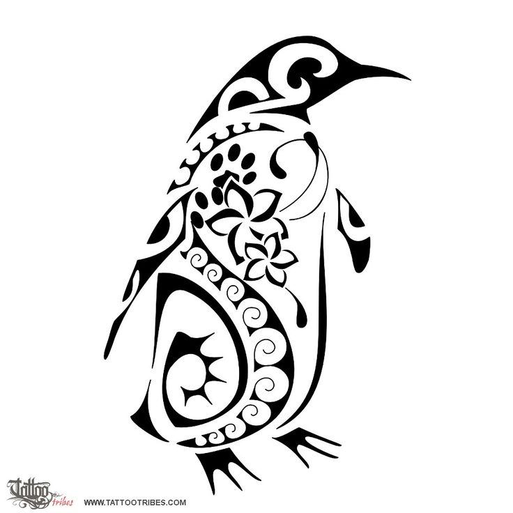 Drawn penguin tribal Hayley Penguin elements tattoo penguin