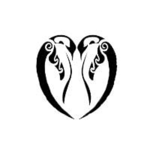 Drawn penguin tribal Heart Penguins Pinterest  friends