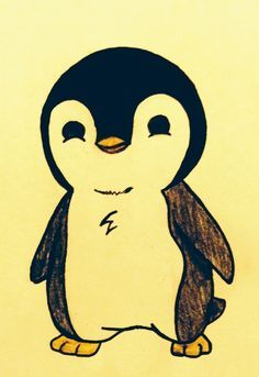 Drawn penguin well And would Enjoyed Draw on