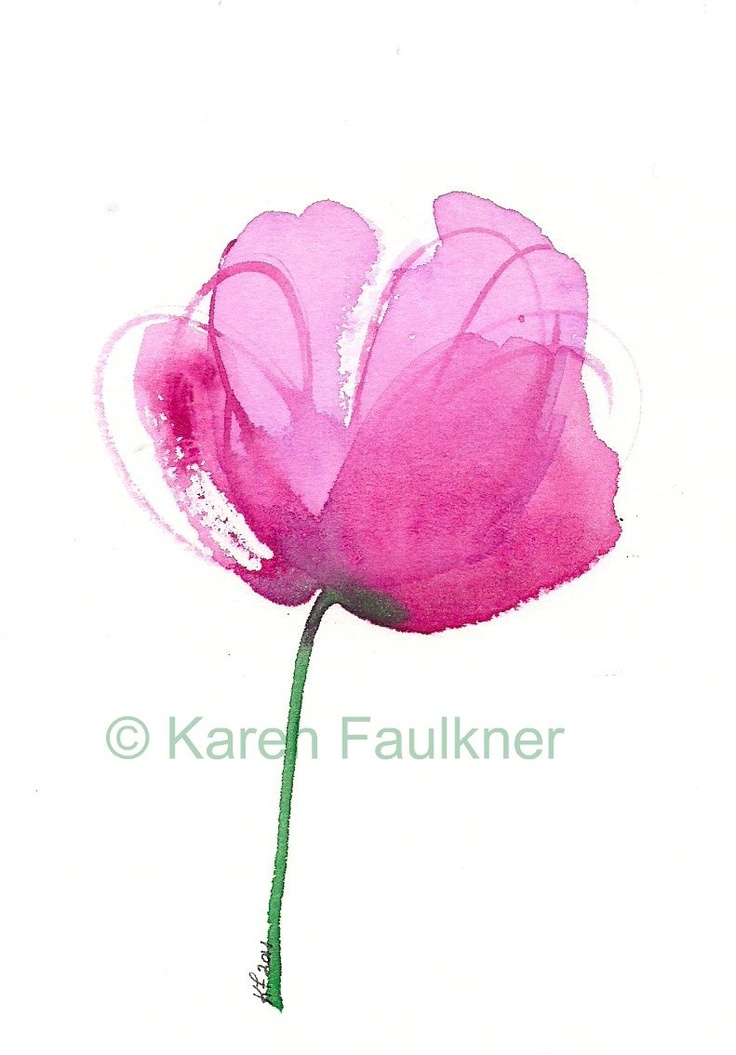 Drawn peony Watercolor  peony: