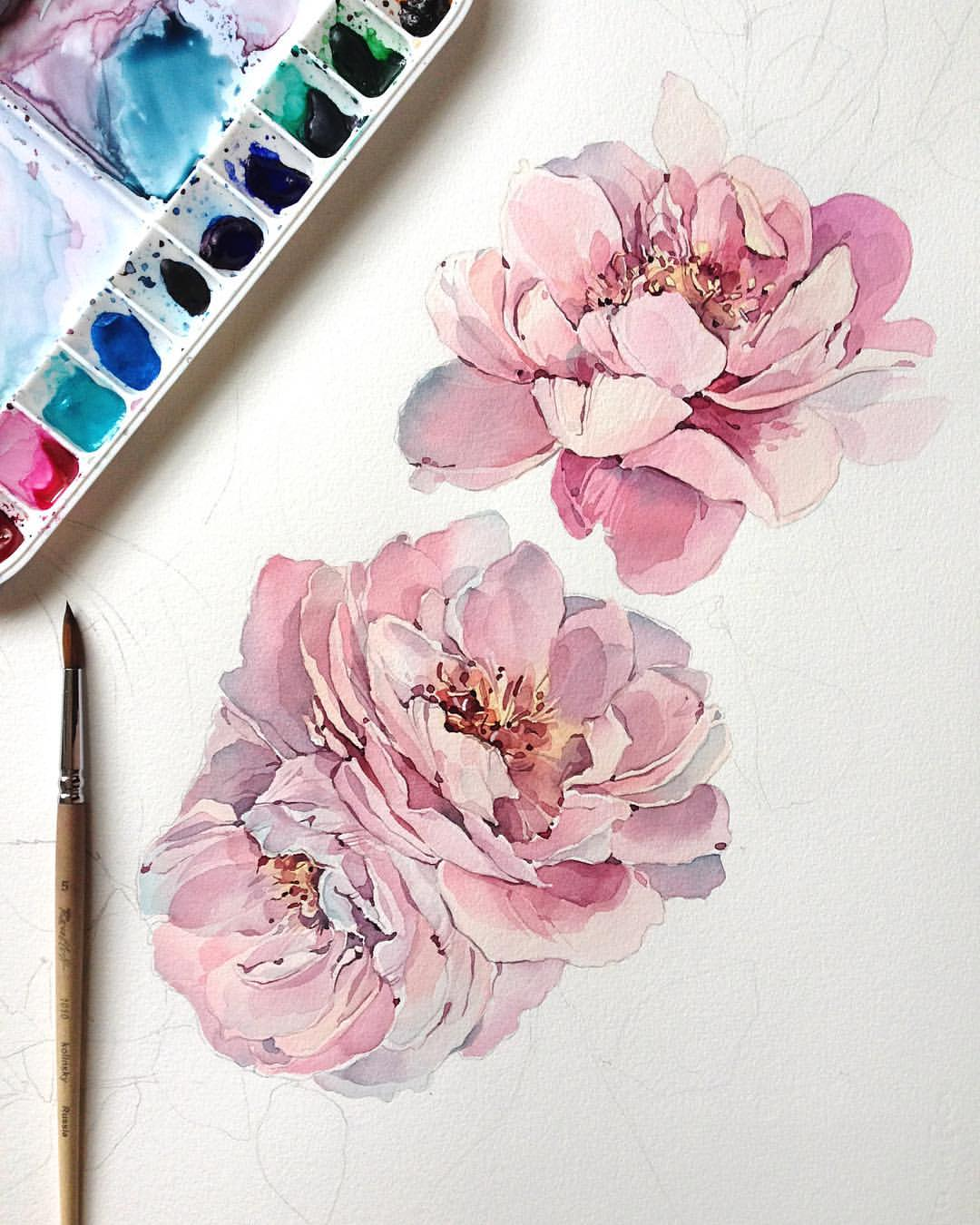 Drawn peony base 튜토리얼 this more Find Pin
