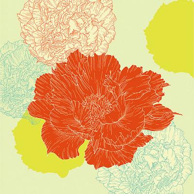 Drawn peony vector Peonies flowers illustration flowers flora