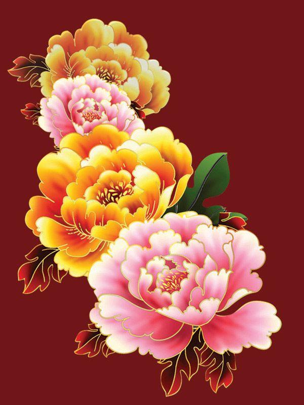 Drawn peony chinese peony Flower about Pinterest Chinese 25+