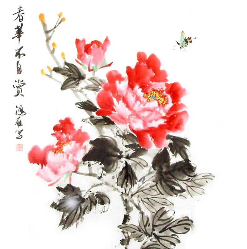 Drawn peony chinese peony  Ya by Painting Peony