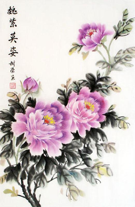 Drawn peony chinese peony X 69cm 46cm(27〃 z Bird