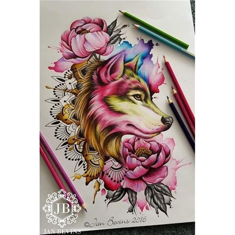 Drawn peony colored And Bevins copyright Instagram Jan