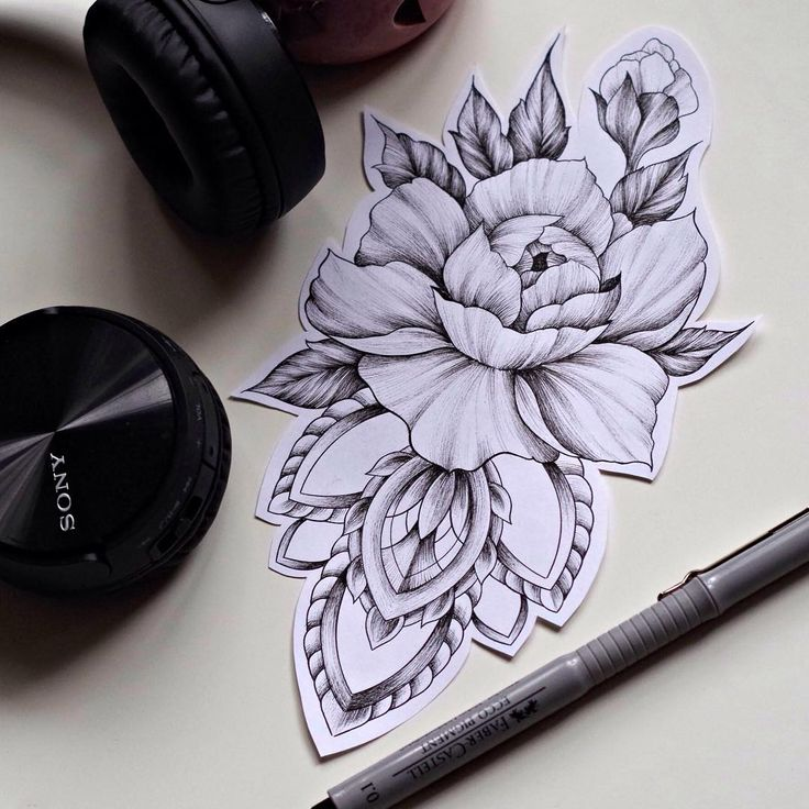 Drawn peony delicate flower Best @bethheals TattooPeony The TattoosDelicate