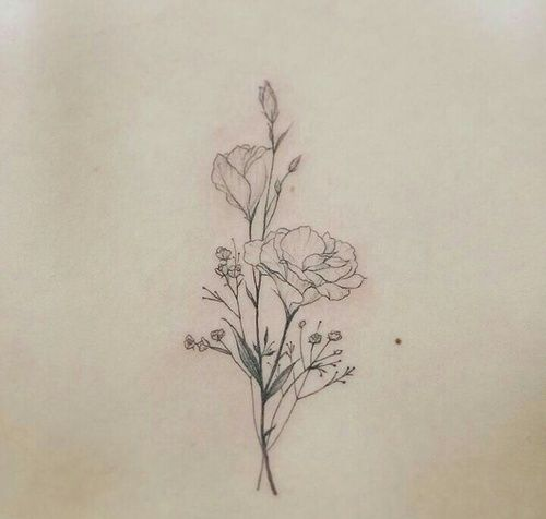 Drawn peony delicate flower 20+ delicate Delicate tattoo mais