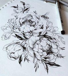 Drawn peony easy Ink Pin inspiration this Find