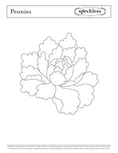 Drawn peony easy Google Peonies Search Pattern Embroidery