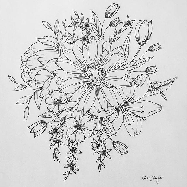 Drawn peony flower bucket Pinterest cluster on ideas Peony