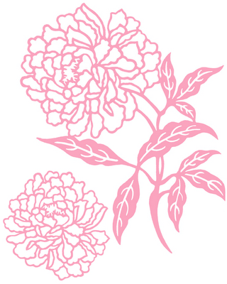 Drawn peony flower png Will beautiful pillows print that