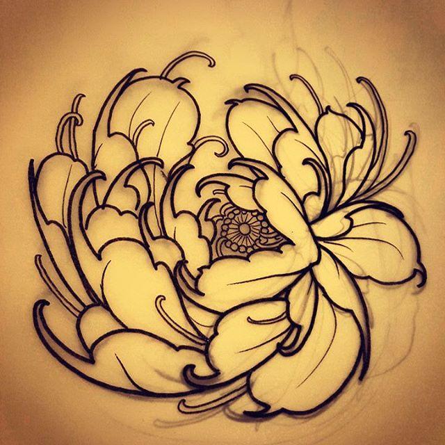 Drawn peony japanese #tattoosnob… little peony! #tattoos #tattooworkers