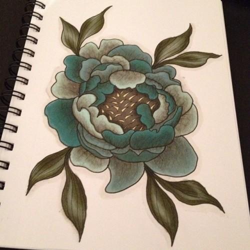 Drawn peony neo traditional #illustrator #tattooidea #tattoos Tinna one