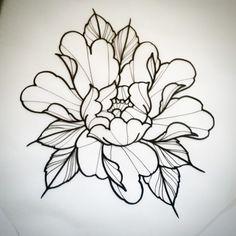 Drawn peony neo traditional Jerry sailor TattoosTattoo Iconosquare tattoo