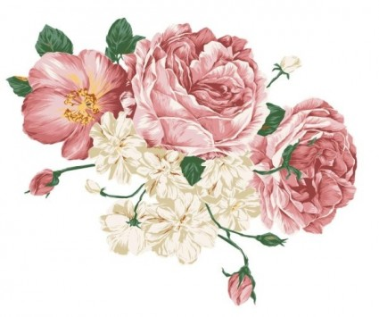 Peony clipart vintage Fabric designs flowers · for