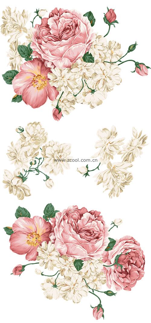 Drawn peony peony flower Beautiful  style Flower hand
