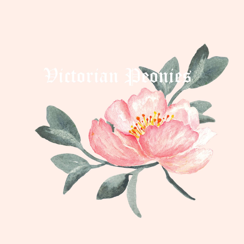 Drawn peony pink peony Digital watercolor drawn Digital clipart