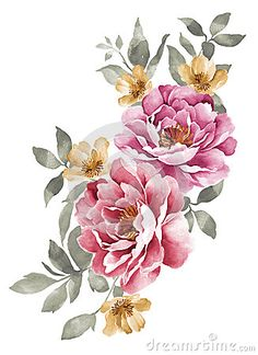 Drawn peony simple Flower flower Best embroidery illustration