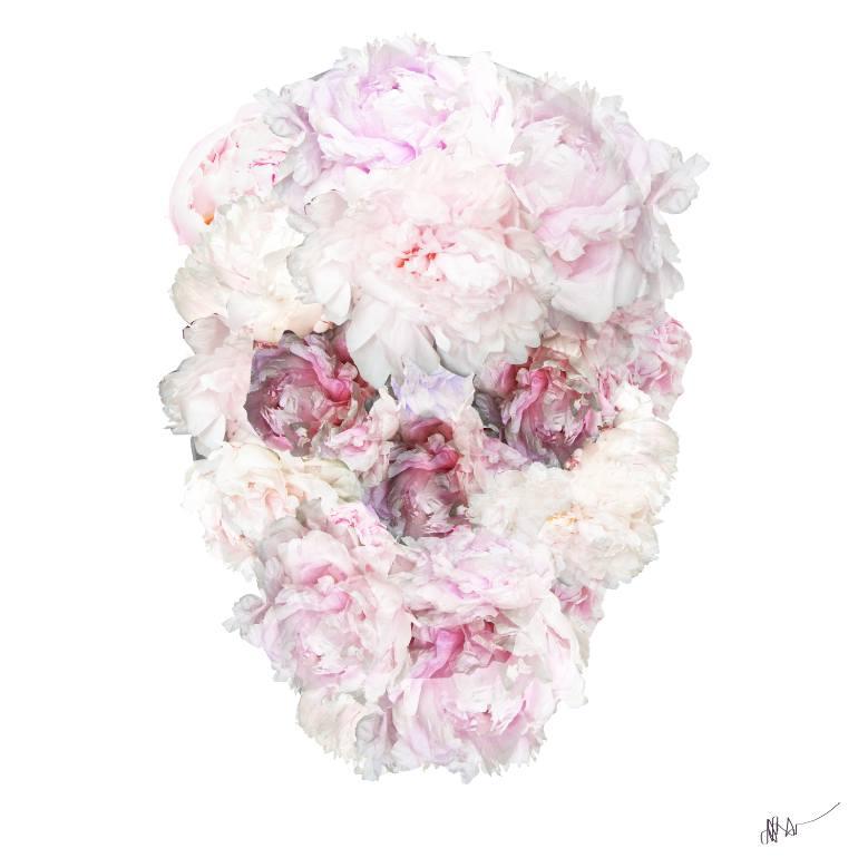 "Drawn peony skull Drawing by ""Peonies Flower Peonies"