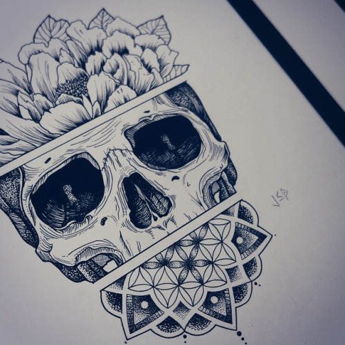 Drawn peony skull Pesquisa Google skull skull Pesquisa