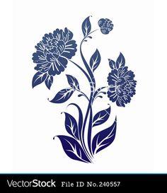 Drawn peony stylized Digital digistamp Peony http://www Stamp