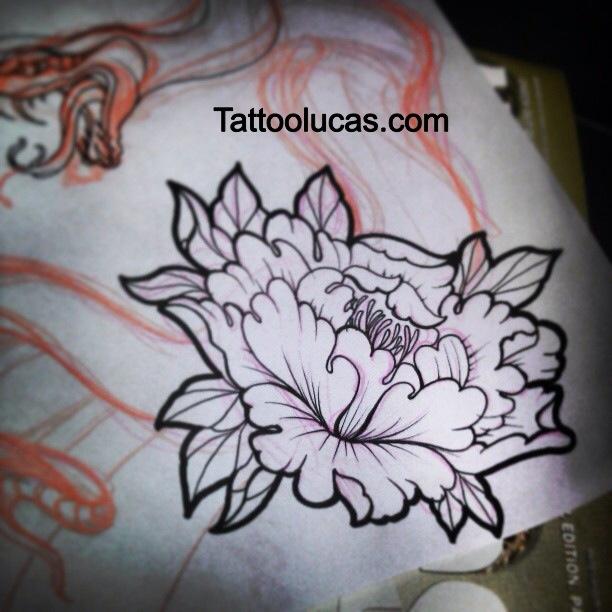 Drawn peony traditional japanese flower Peony artwork Tattoos  Japanese