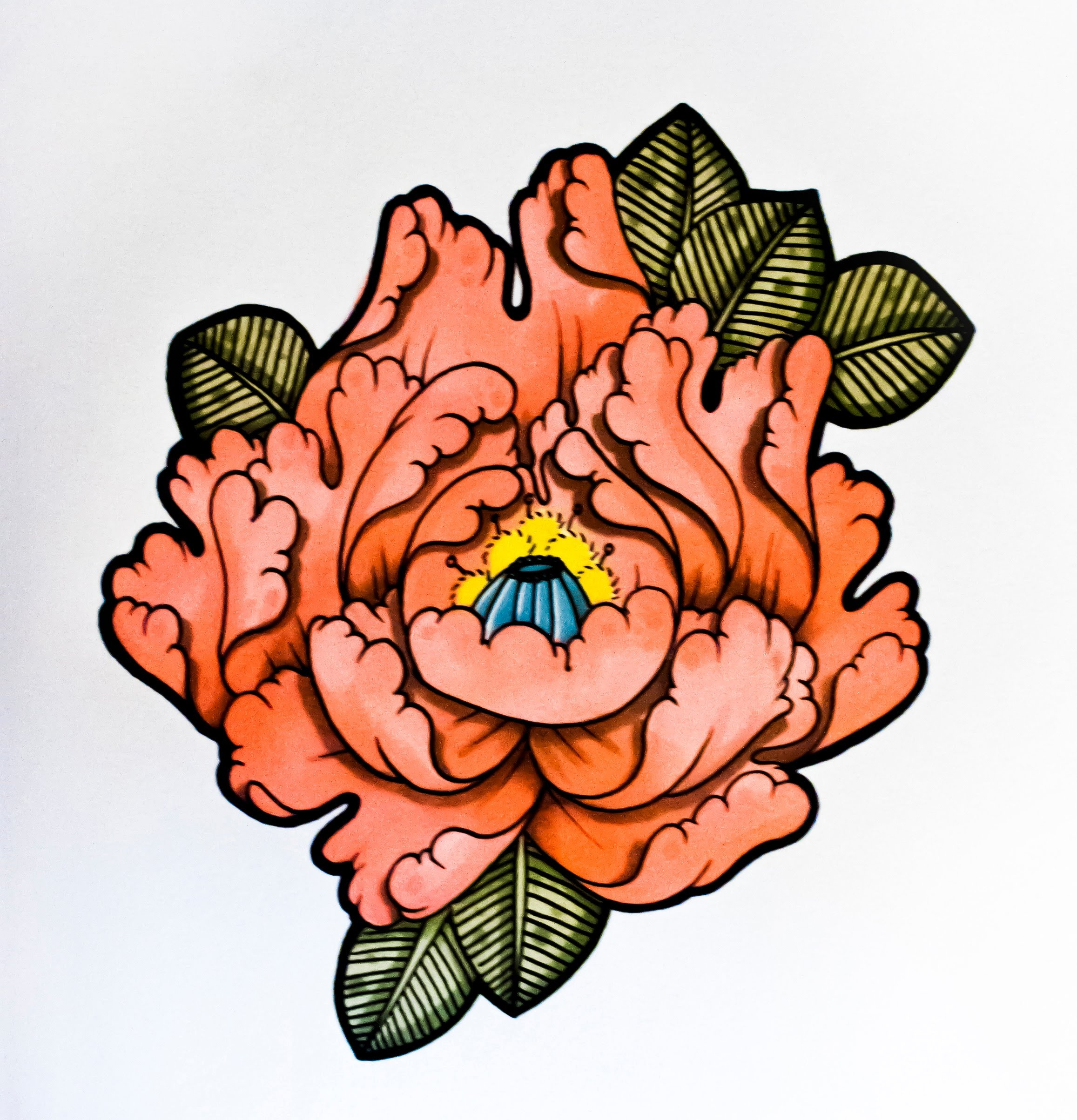 Drawn peony traditional japanese flower To to YouTube Flower Tattoo