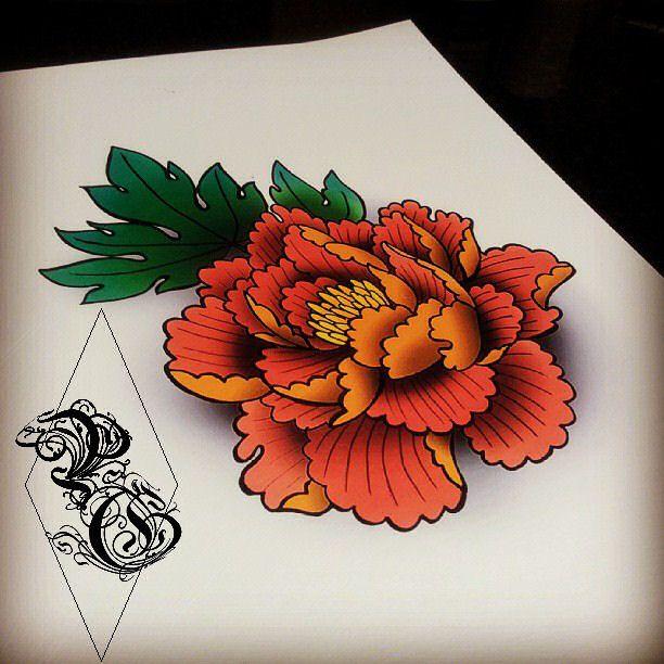 Drawn peony Flower prettygrotesquetattoosuk custom Traditional best