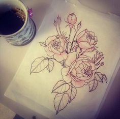 Drawn peony vintage rose Roses for flowers Peony: Vintage