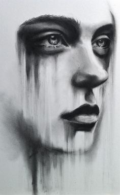 Drawn sad dark 25+ Charcoal Kate drawing Paintings