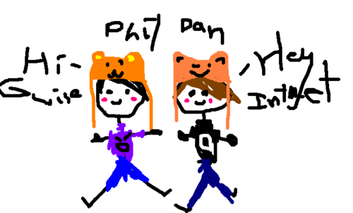 Drawn phill And Phil Badly Dan