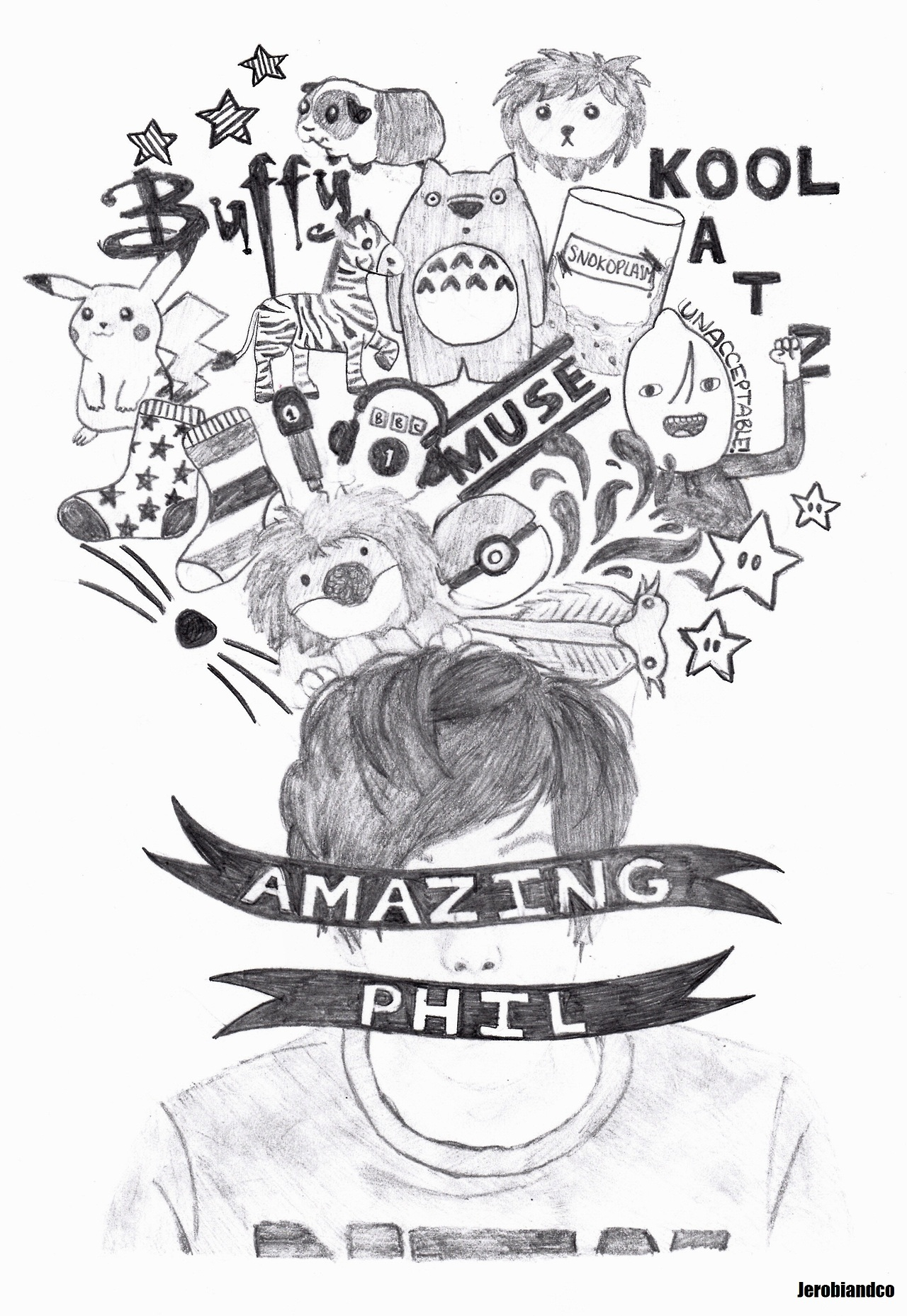 Drawn phill Tumblr 《 AmazingPhil Taken