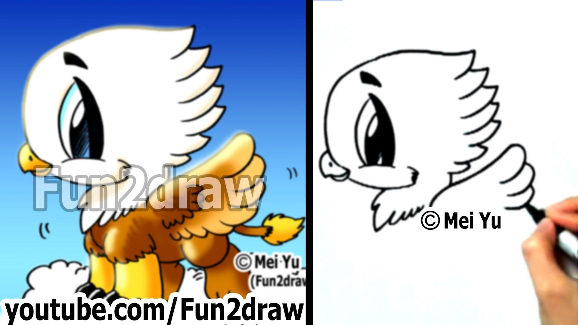 Drawn phoenix Drawn Griffin Fun2draw in Draw a