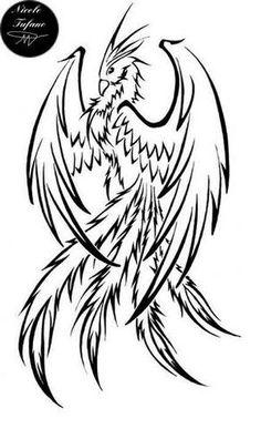 Drawn phoenix Drawn Griffin And Tattoo Mobile Phoenix Pinterest