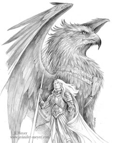 Drawn phoenix Drawn Griffin Search drawings Pinterest Gryphon drawings