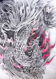 Drawn phoenix Phoenix Bird Phoenix Google Phoenix bird by