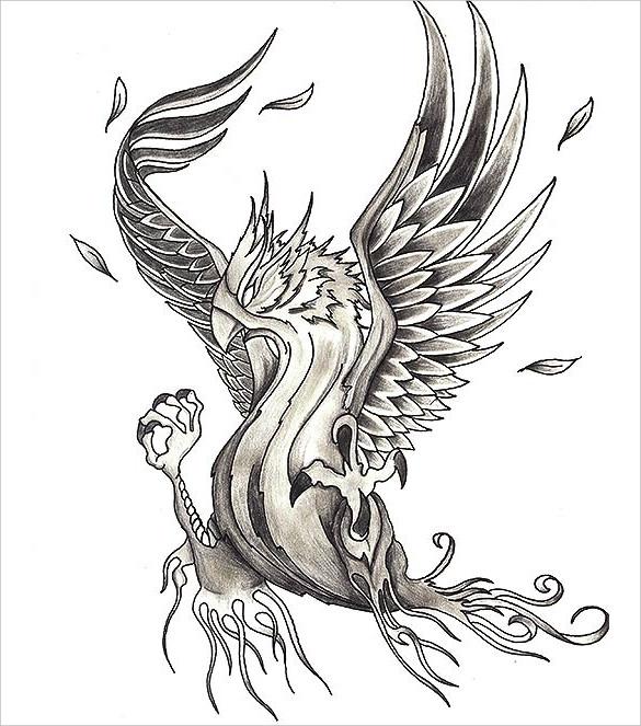 Drawn phoenix Phoenix Bird Drawing Blowing Bird 21+ Bird