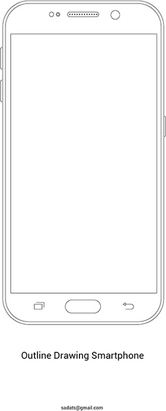 Drawn phone smartphone Commercial  vector smartphone drawing